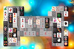 Schwarz Weiß Mahjong